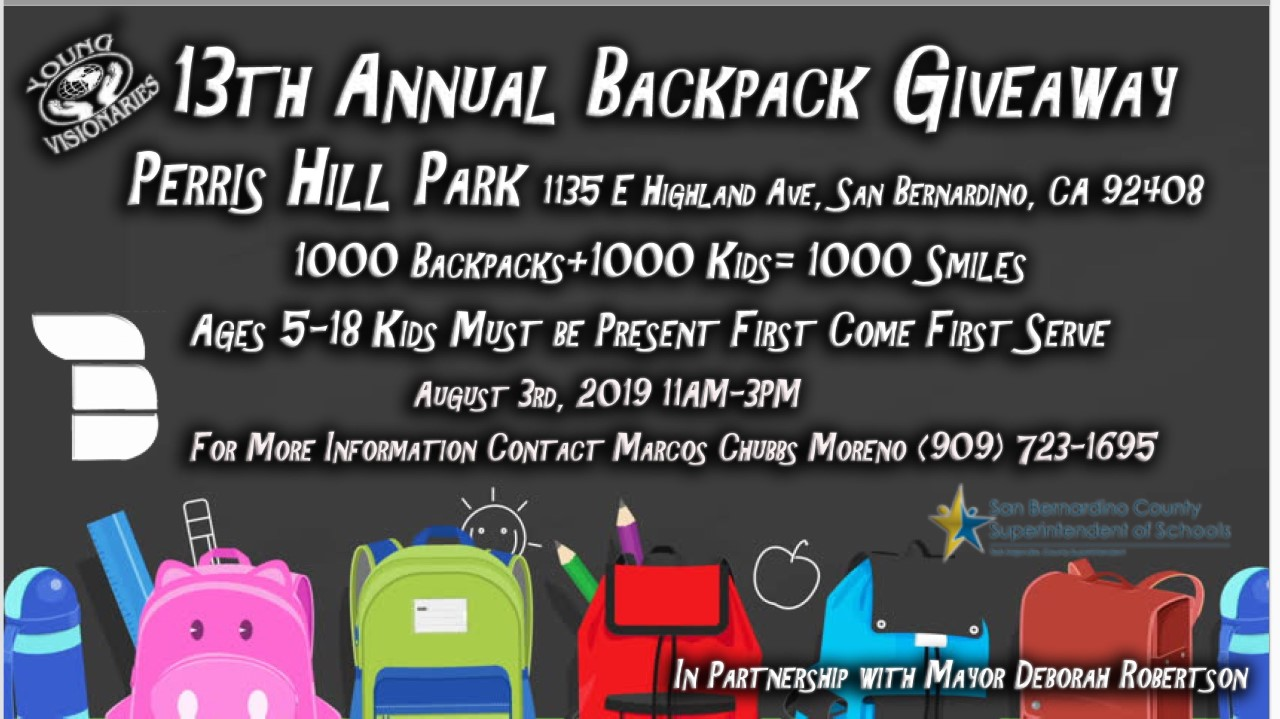 2019 FREE SCHOOL SUPPLY GIVEAWAY 92408